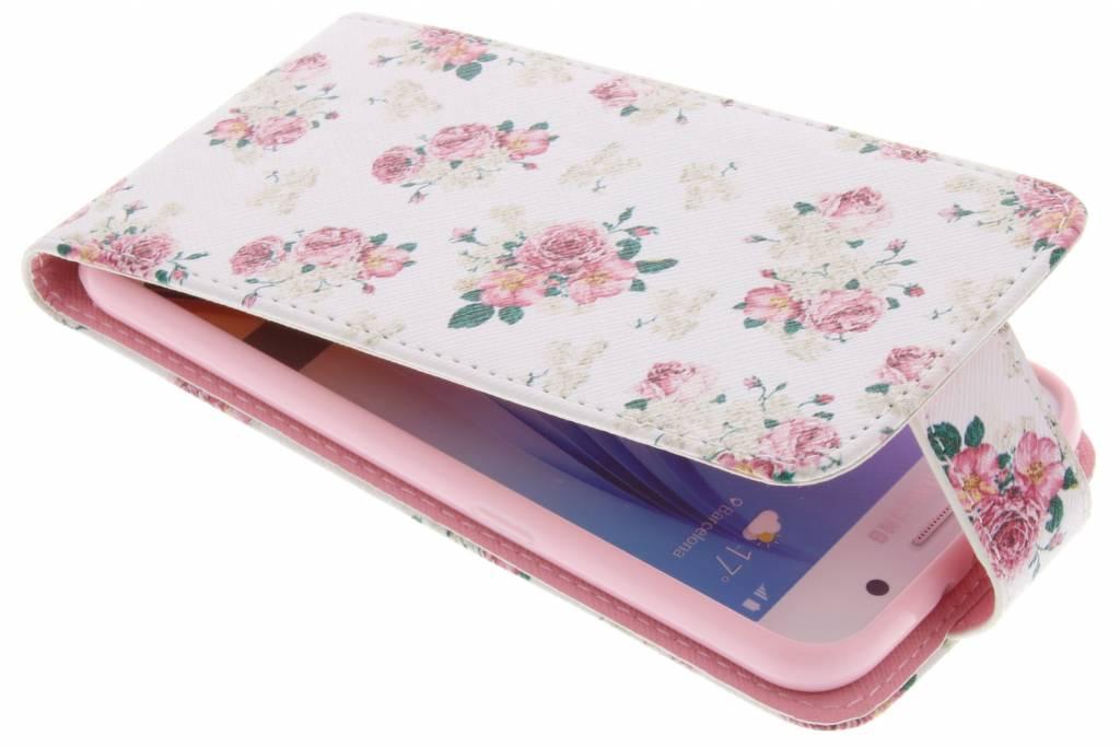 Roosjes design TPU flipcase voor de Samsung Galaxy S6