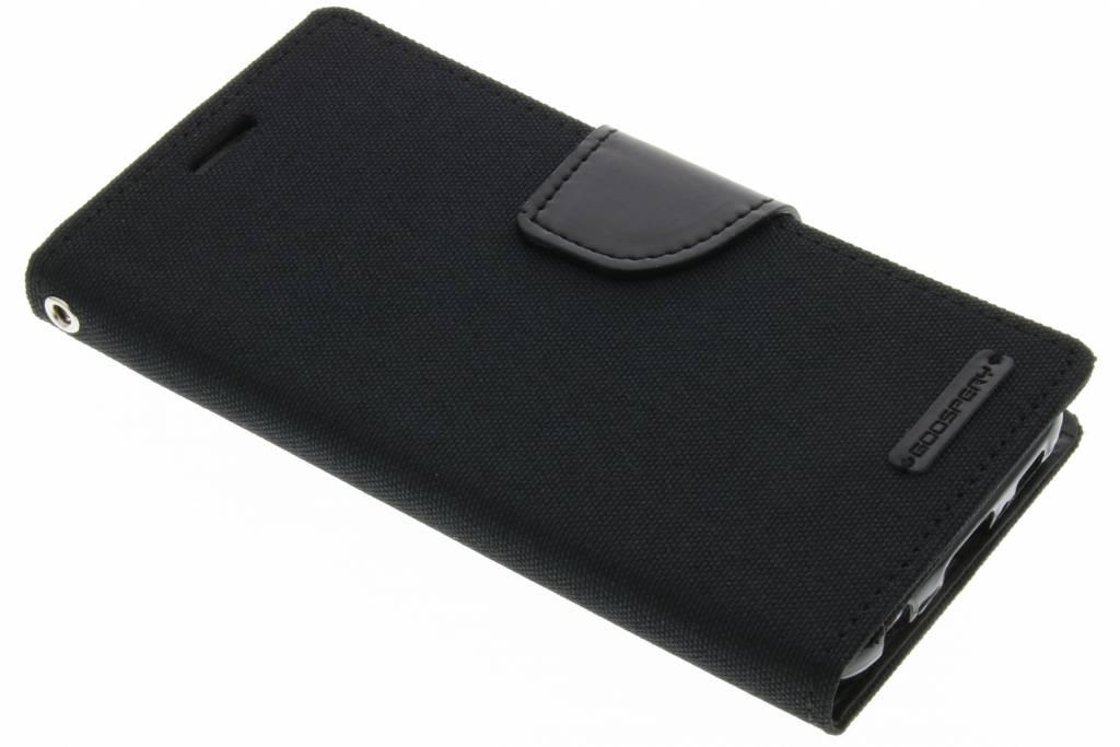 Canvas Diary Case voor de Samsung Galaxy S6 - Zwart