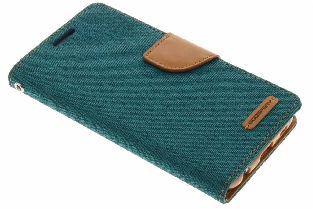 Canvas Diary Case voor de Samsung Galaxy S6 - Groen