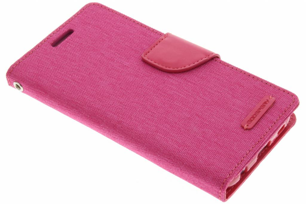 Canvas Diary Case voor de Samsung Galaxy S6 - Fuchsia