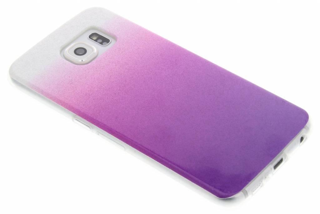 Paarse glitter TPU softcase voor de Samsung Galaxy S6