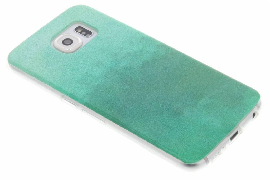 Groene glitter TPU softcase voor de Samsung Galaxy S6
