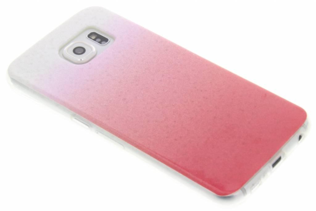 Roze glitter TPU softcase voor de Samsung Galaxy S6