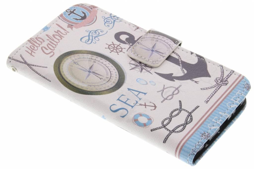 Sailor design TPU booktype hoes voor de Samsung Galaxy S6
