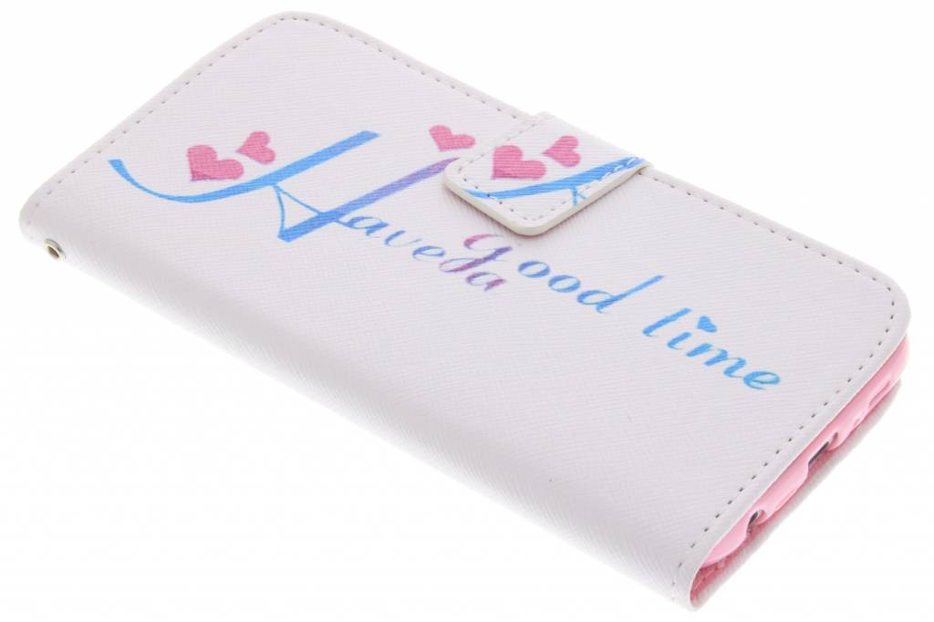 Have a good time design TPU booktype hoes voor de Samsung Galaxy S6