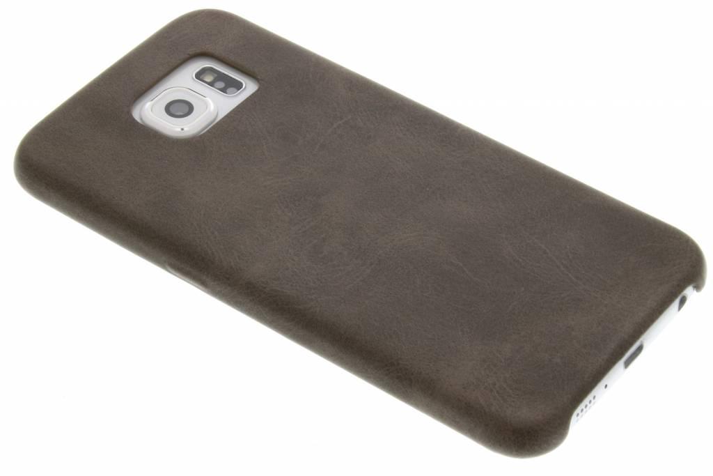 Bruine TPU Leather Case voor de Samsung Galaxy S6