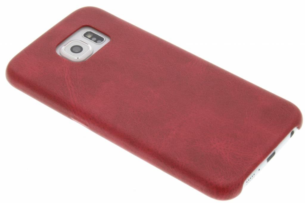 Rode TPU Leather Case voor de Samsung Galaxy S6