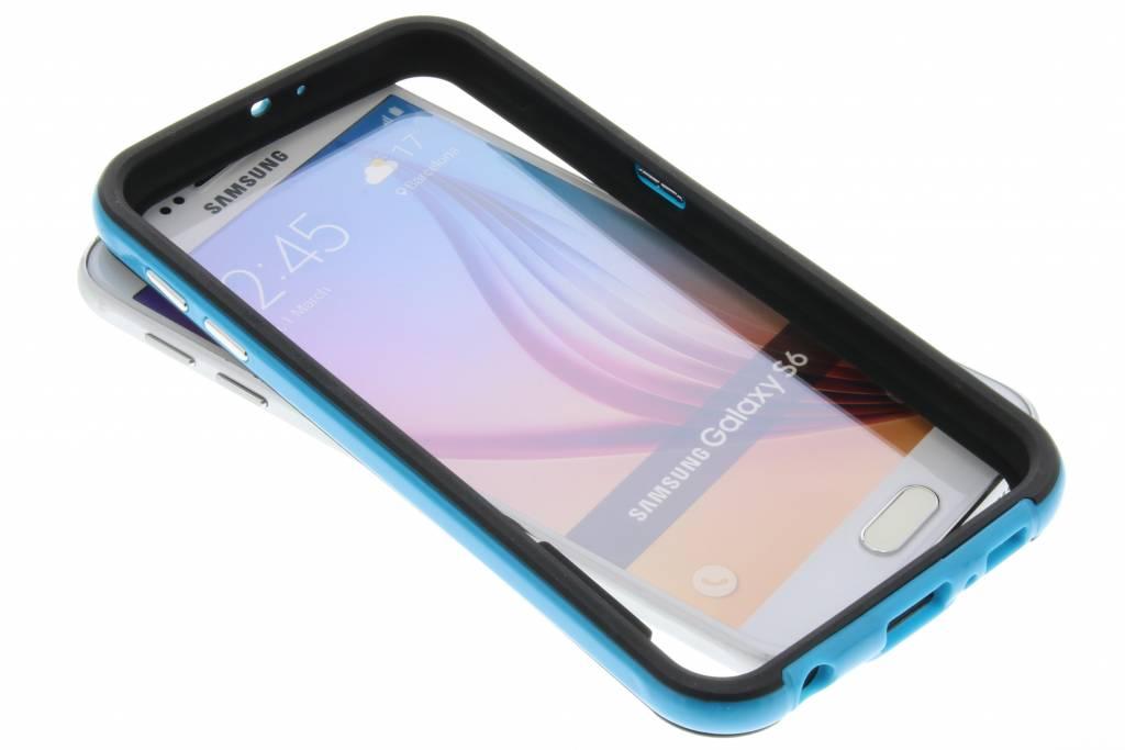 Blauwe bumper voor de Samsung Galaxy S6