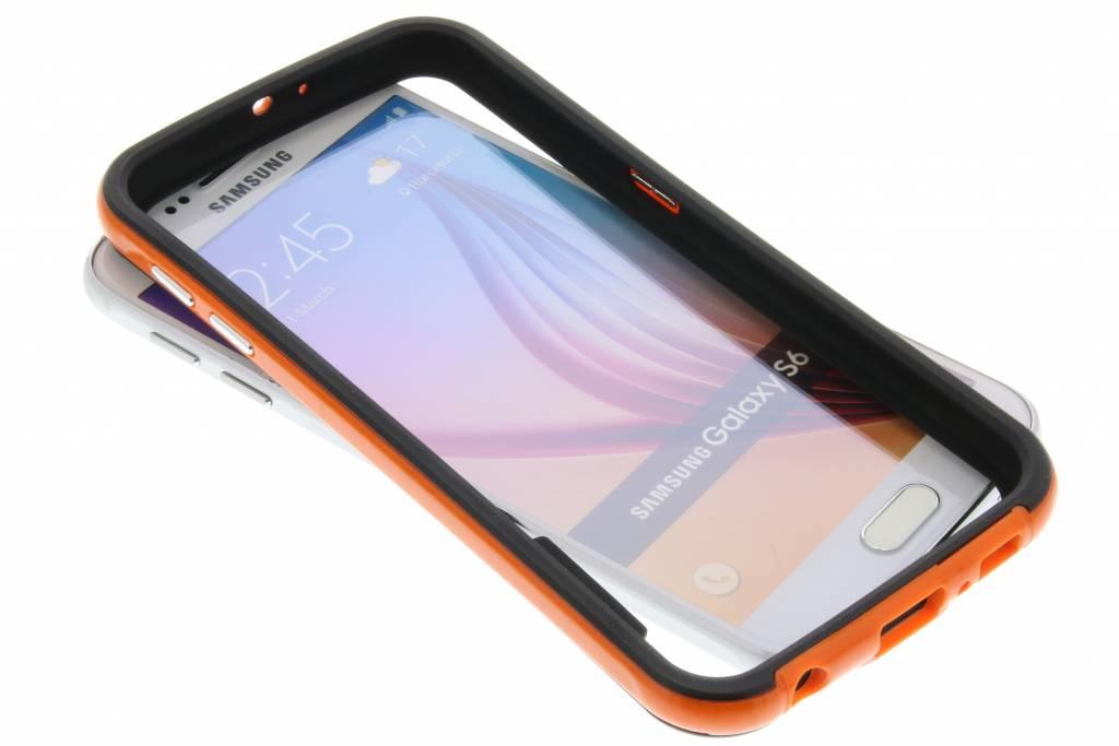 Oranje bumper voor de Samsung Galaxy S6