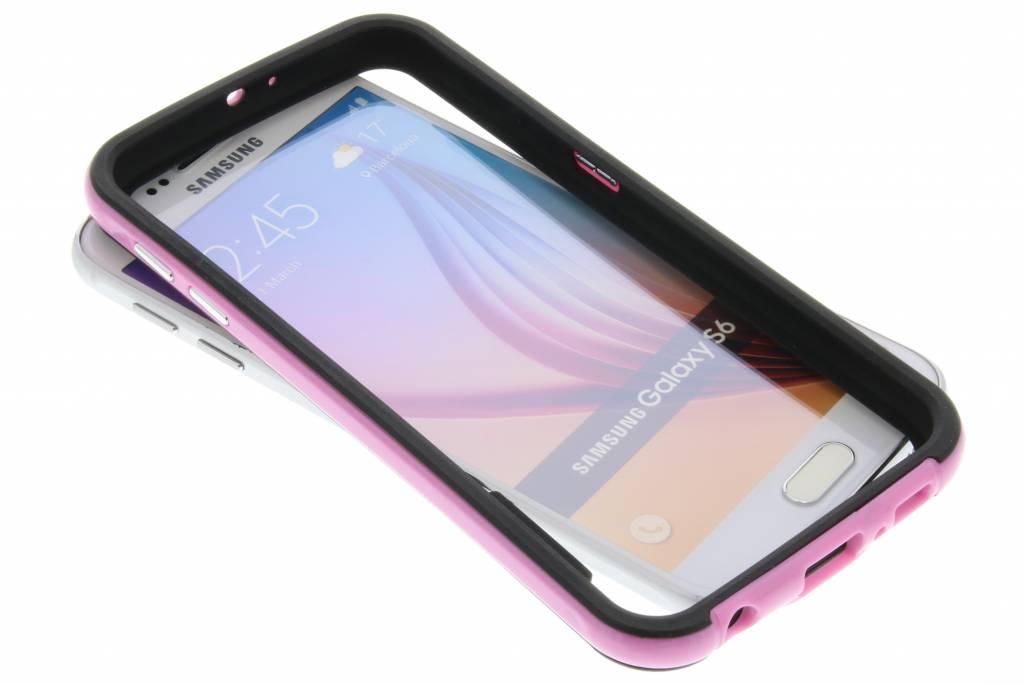 Roze bumper voor de Samsung Galaxy S6