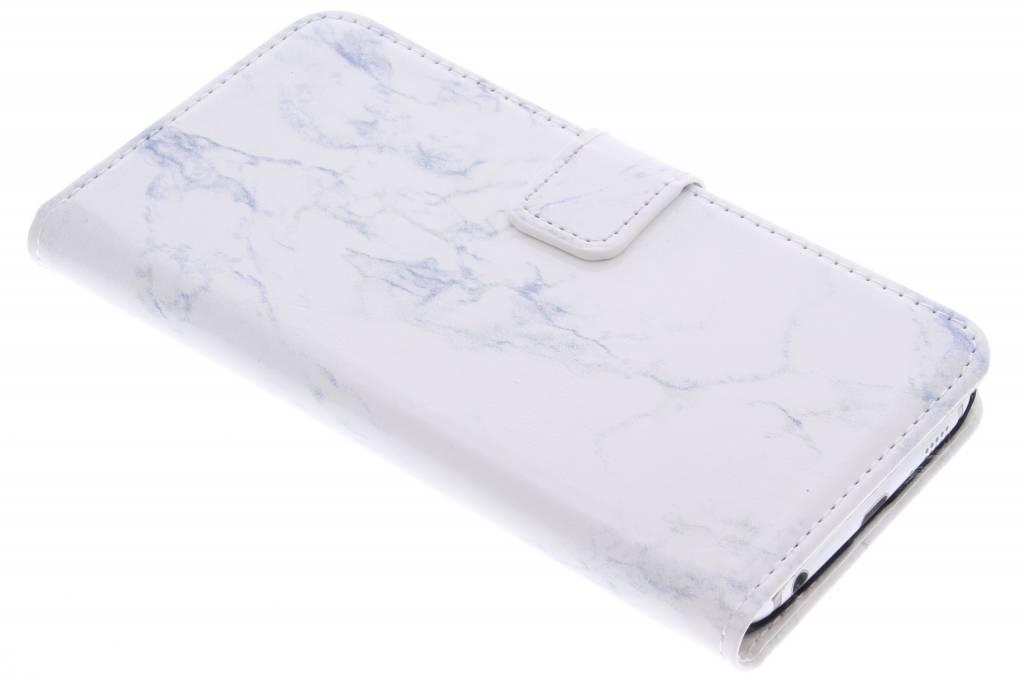 Witte marmer booktype hoes voor de Samsung Galaxy S6