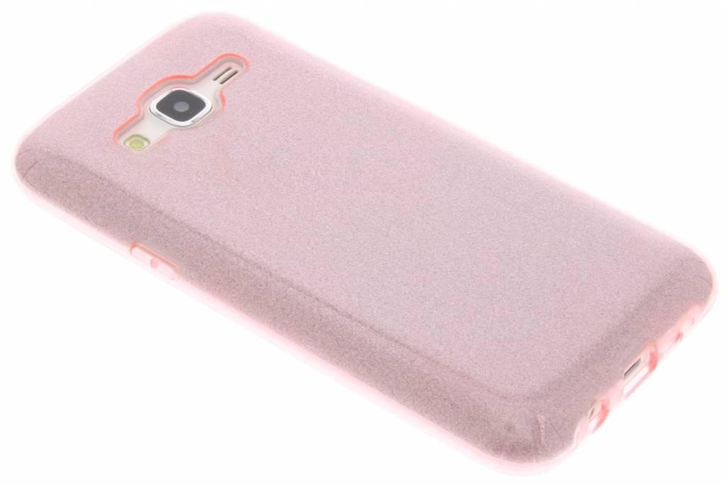 Roze glamour design softcase voor de Samsung Galaxy J5