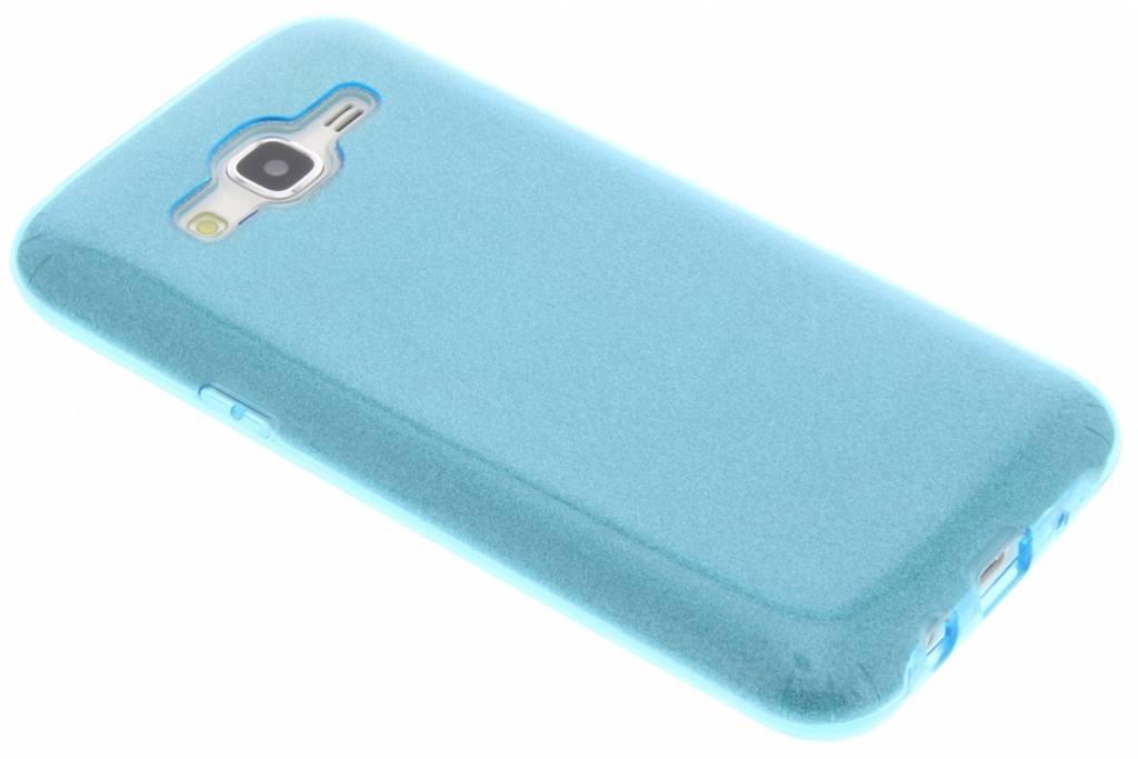 Blauwe glamour design softcase voor de Samsung Galaxy J5