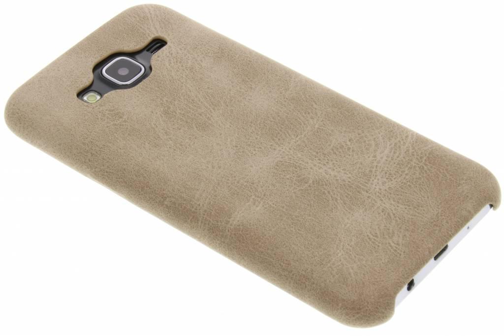 Beige TPU Leather Case voor de Samsung Galaxy J5