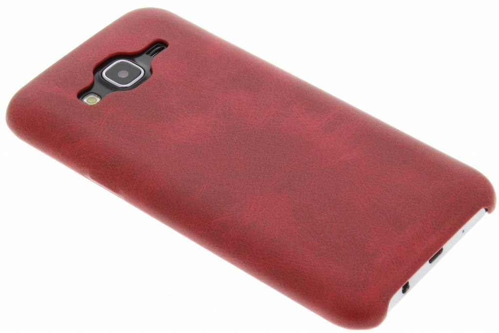 Rode TPU Leather Case voor de Samsung Galaxy J5