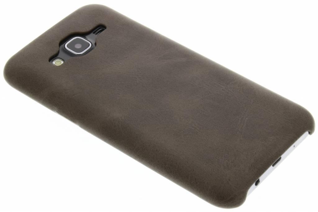 Bruine TPU Leather Case voor de Samsung Galaxy J5
