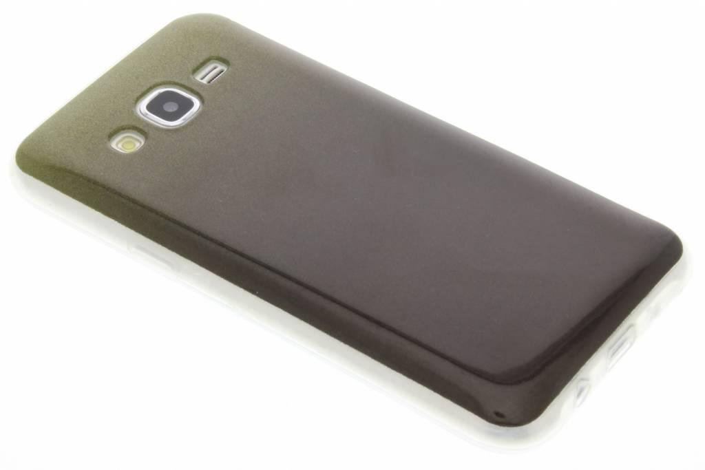 Mosgroene glitter TPU softcase voor de Samsung Galaxy J5