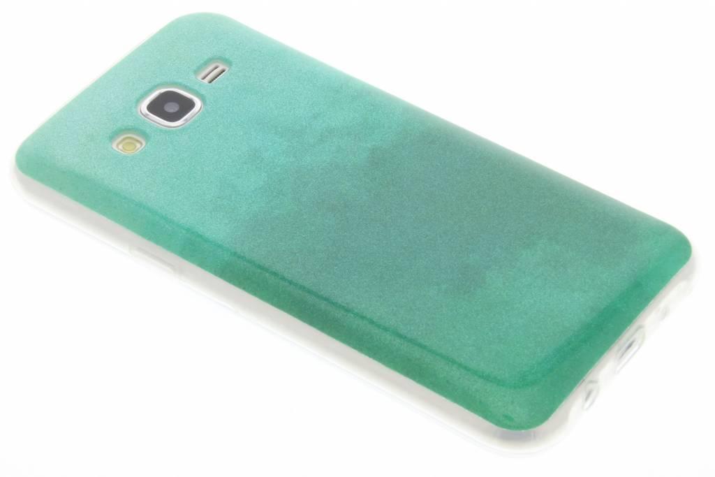 Groene glitter TPU softcase voor de Samsung Galaxy J5