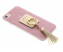 Guess Girly Ring Case iPhone 8 / 7 - Pink Sparkles