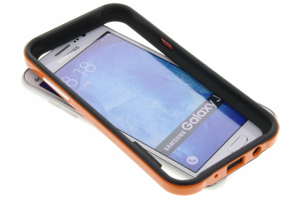 Oranje bumper voor de Samsung Galaxy J5