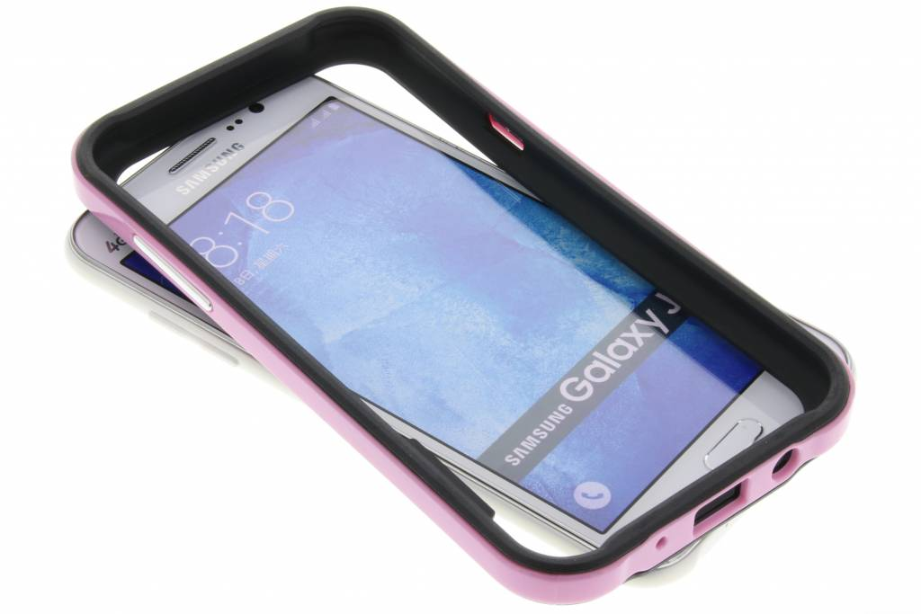 Roze bumper voor de Samsung Galaxy J5