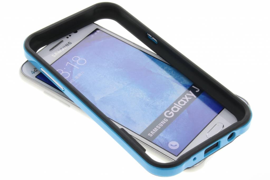 Blauwe bumper voor de Samsung Galaxy J5