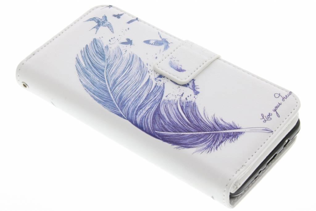 Veer design TPU portemonnee voor de Samsung Galaxy J5