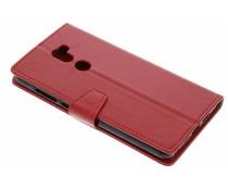 Rood zakelijke TPU booktype hoes Xiaomi Mi 5s Plus
