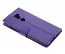 Paars zakelijke TPU booktype hoes Xiaomi Mi 5s Plus