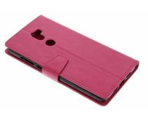 Fuchsia zakelijke TPU booktype hoes Xiaomi Mi 5s Plus