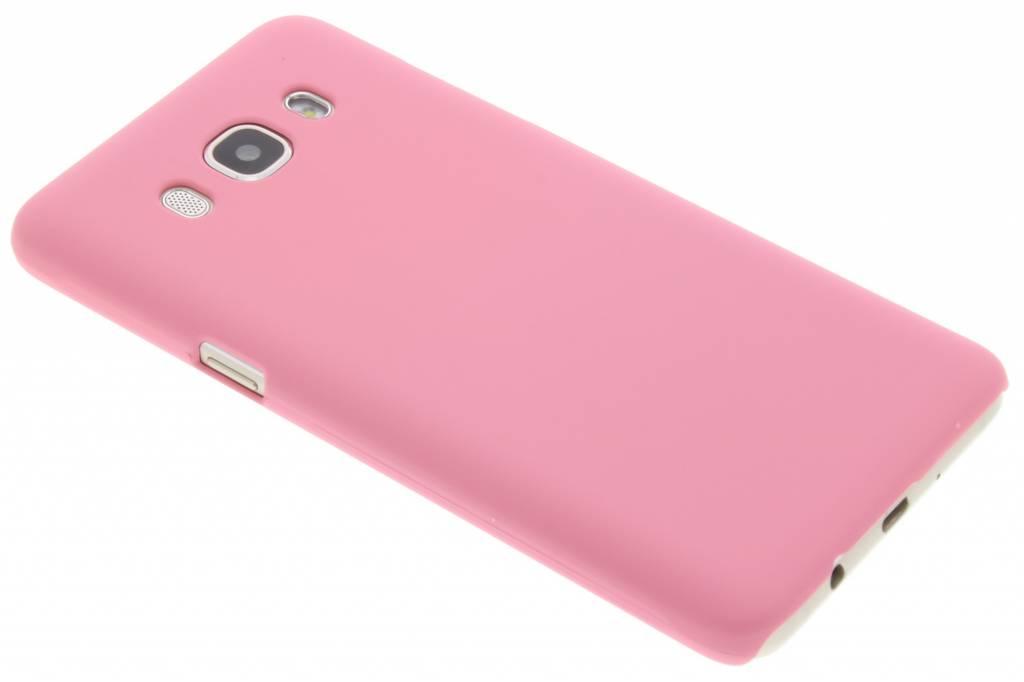 Roze effen hardcase hoesje voor de Samsung Galaxy J5 (2016)