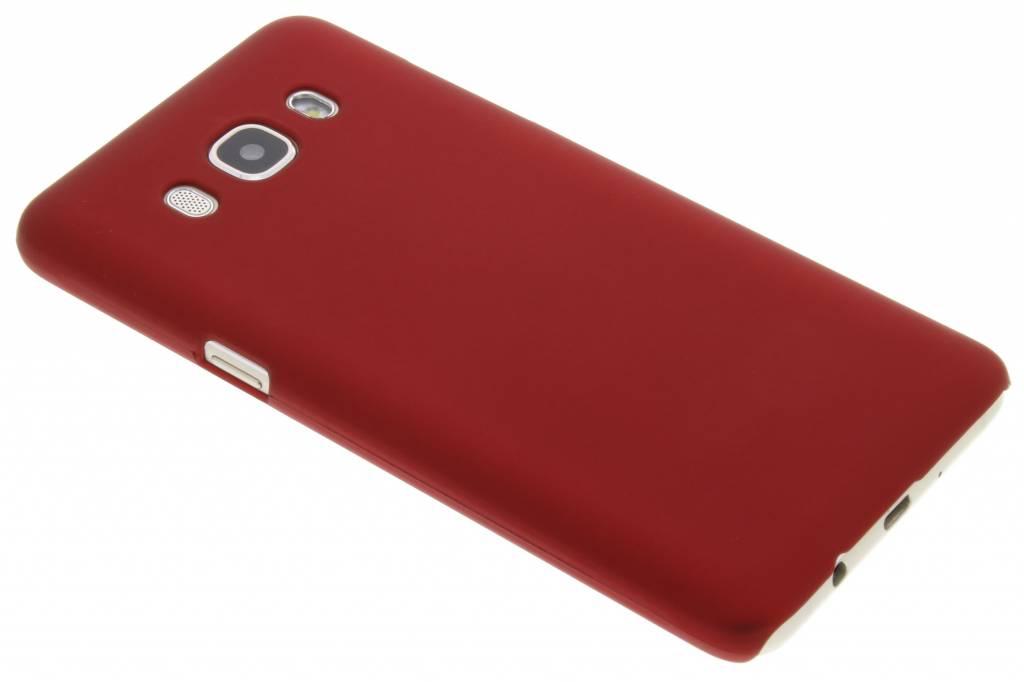 Rood effen hardcase hoesje voor de Samsung Galaxy J5 (2016)