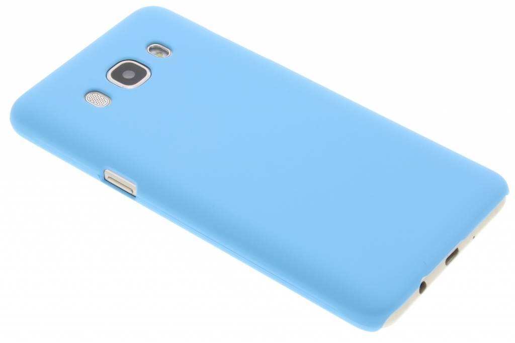 Lichtblauw effen hardcase hoesje voor de Samsung Galaxy J5 (2016)
