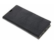 Zwart krokodil TPU booktype hoes Acer Liquid Z6 Plus