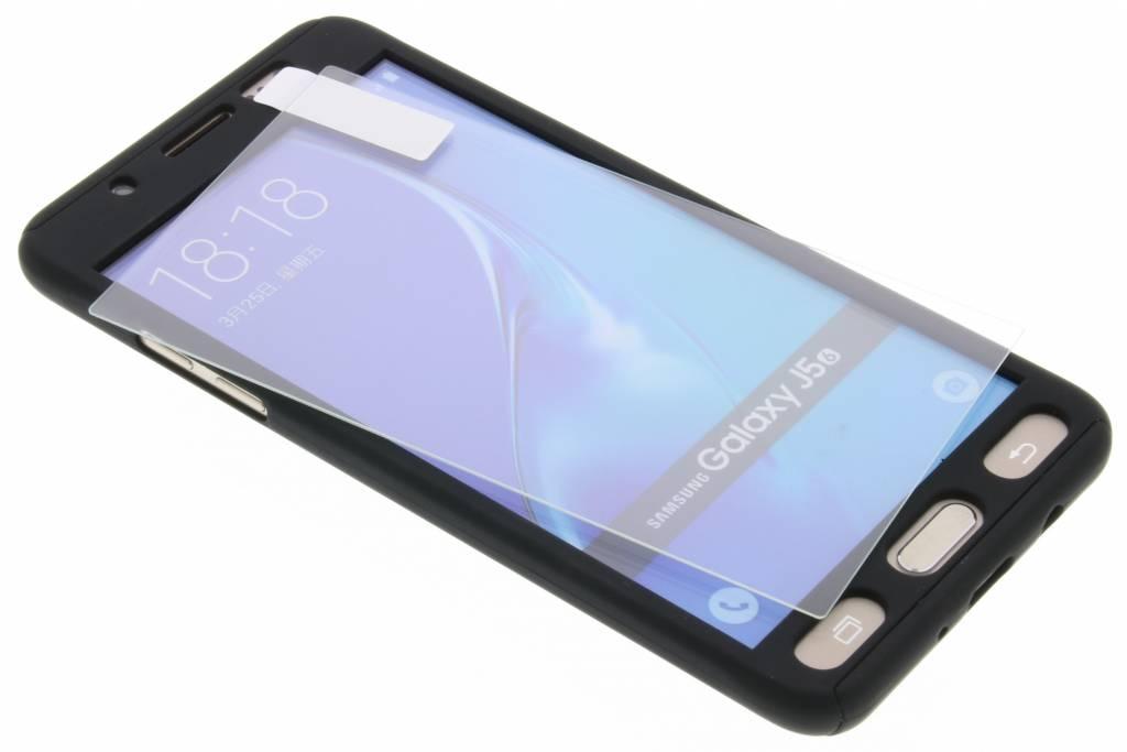 Zwarte 360° effen protect case voor de Samsung Galaxy J5 (2016)