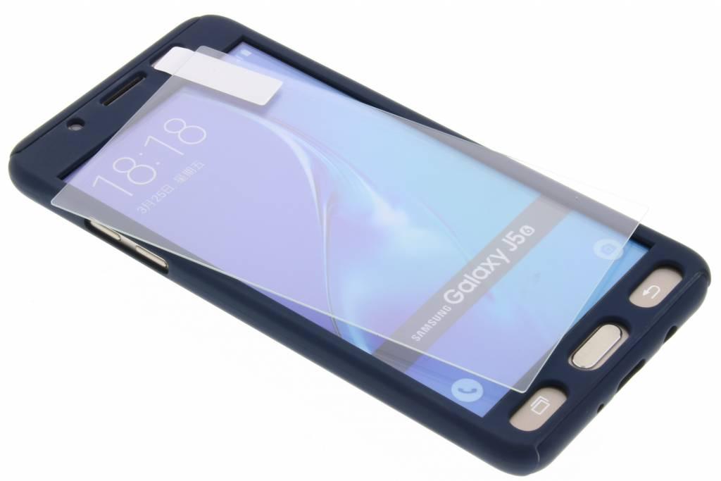 Donkerblauwe 360° effen protect case voor de Samsung Galaxy J5 (2016)