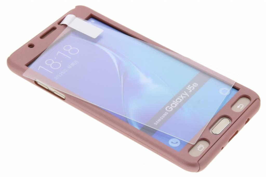 Roze 360° effen protect case voor de Samsung Galaxy J5 (2016)