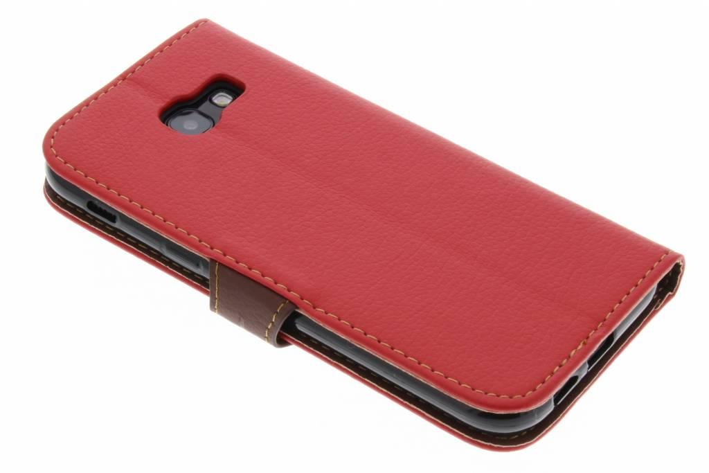Feuille Noire Cas De Type Livre De Conception Pour Le Samsung Galaxy A5 (2017) T88BdALGU
