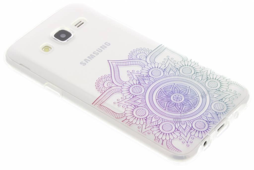 Multicolor mandala design TPU hoesje voor de Samsung Galaxy J5