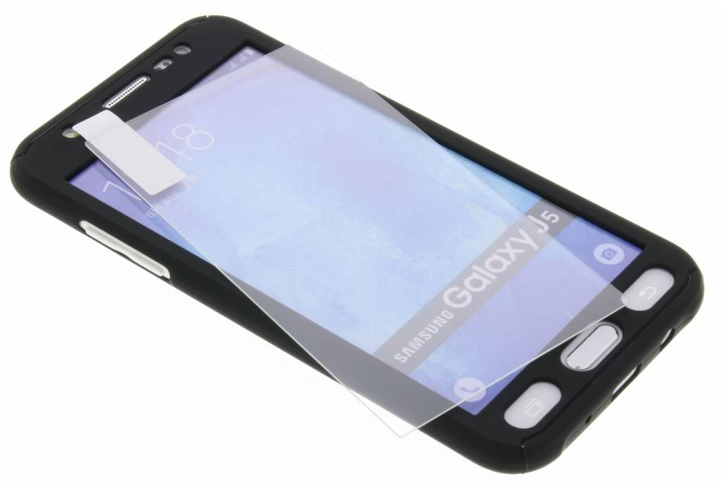 Zwarte 360° effen protect case voor de Samsung Galaxy J5