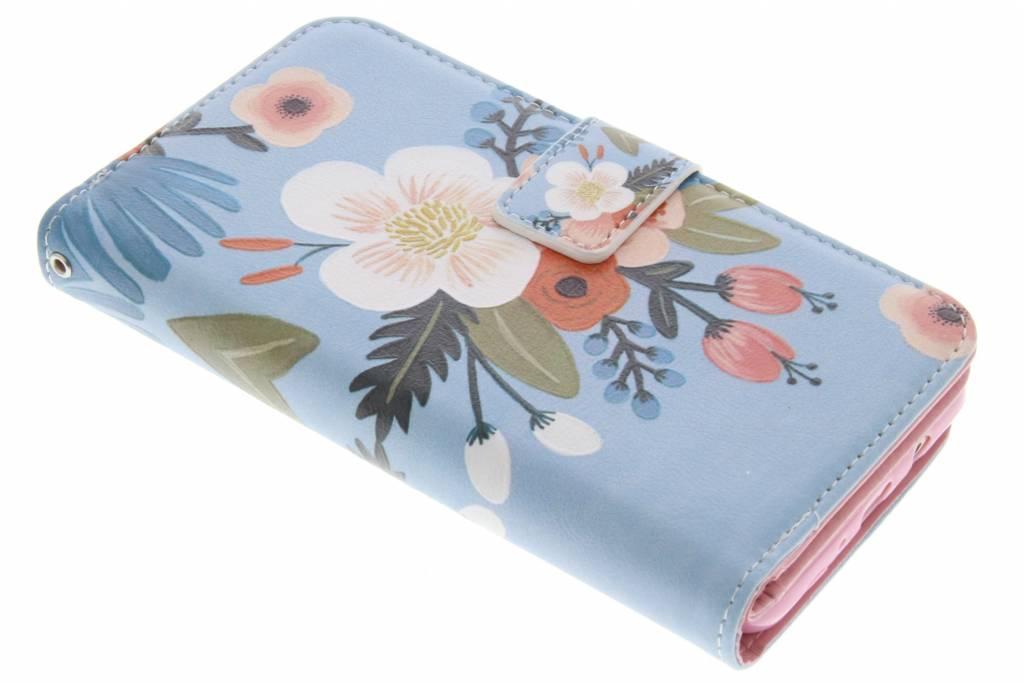 Bloemen design TPU portemonnee voor de Samsung Galaxy J5