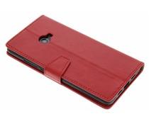 Rood zakelijke TPU booktype hoes Xiaomi Mi Note 2