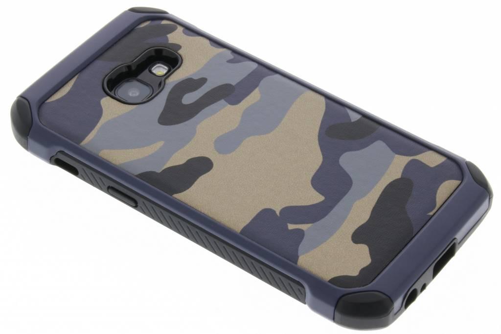 Blauw army defender hardcase hoesje voor de Samsung Galaxy A3 (2017)