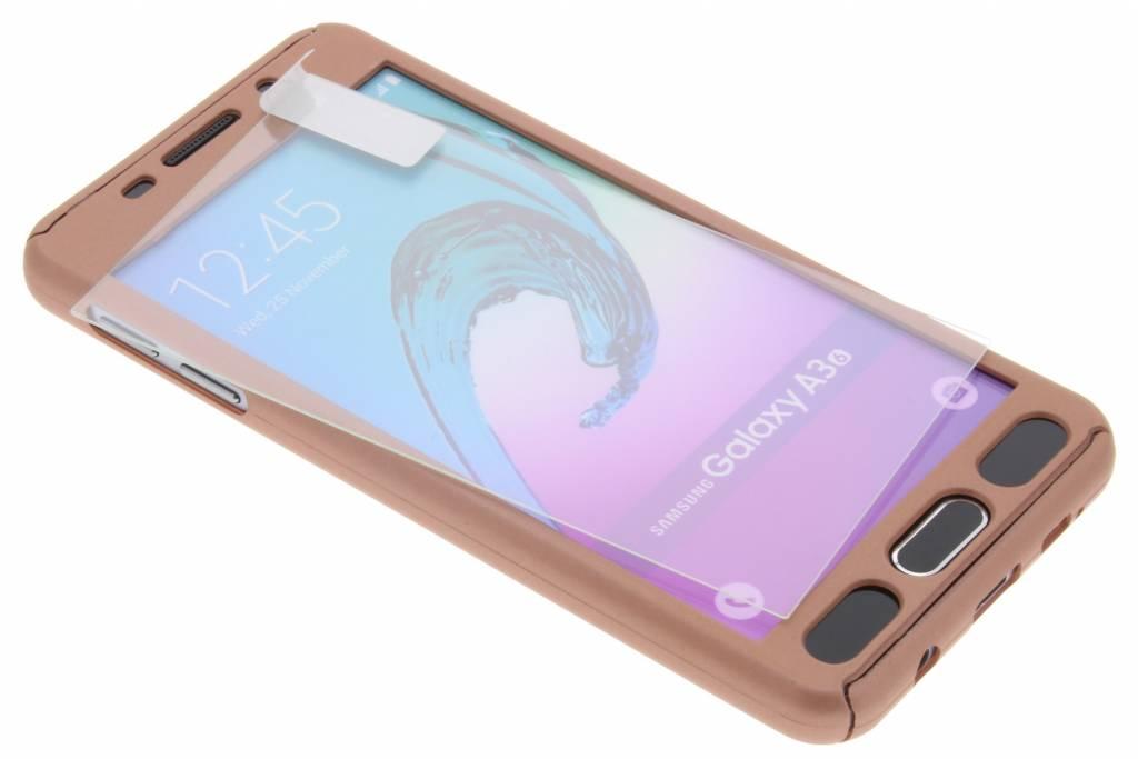 Roze 360° effen protect case voor de Samsung Galaxy A3 (2016)
