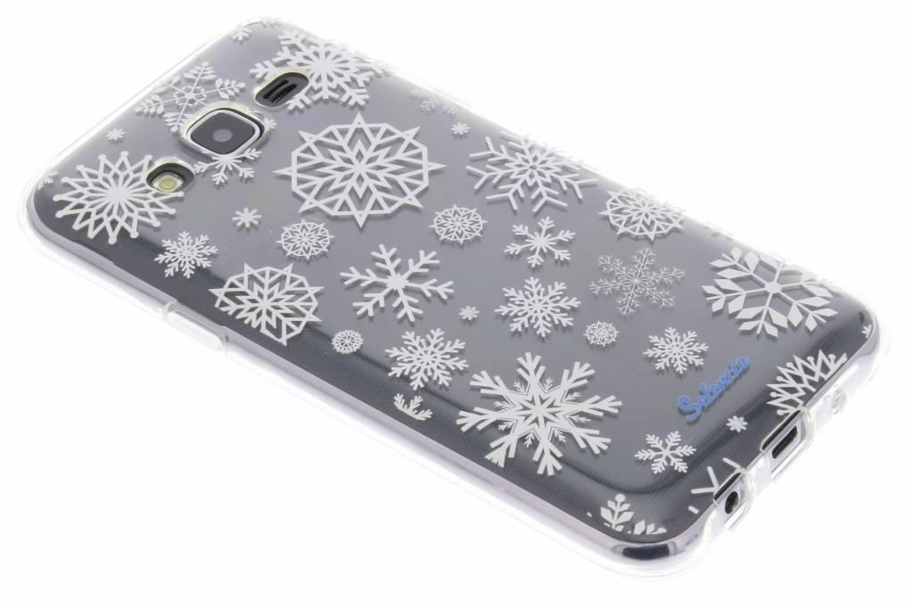 Winter Wonderland Sneeuwvlokken TPU hoesje voor de Samsung Galaxy J5