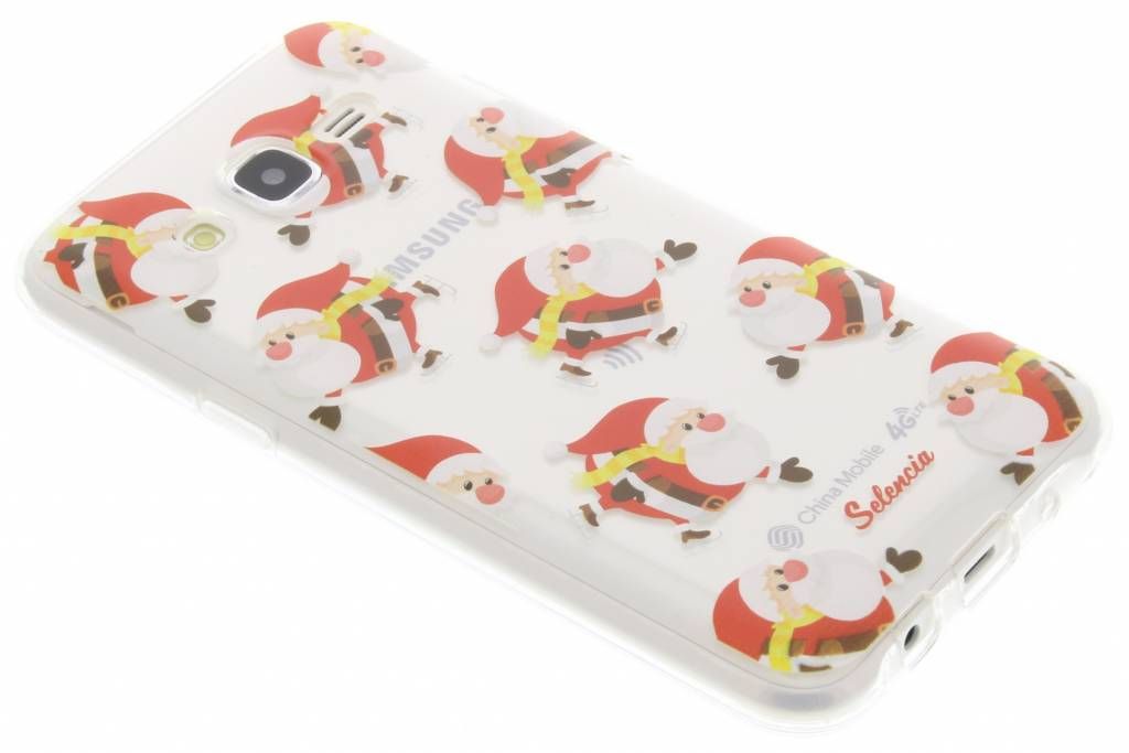 Winter Wonderland Kerstman TPU hoesje voor de Samsung Galaxy J5