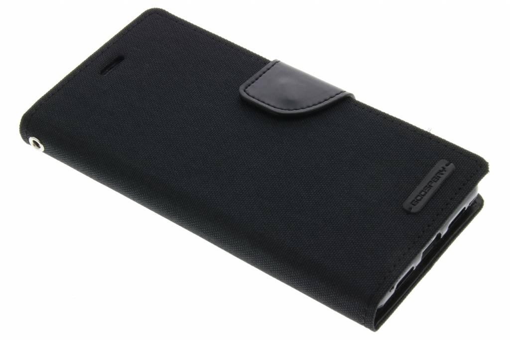 Mercury Goospery Canvas Diary Case voor de Huawei P9 Lite - Zwart