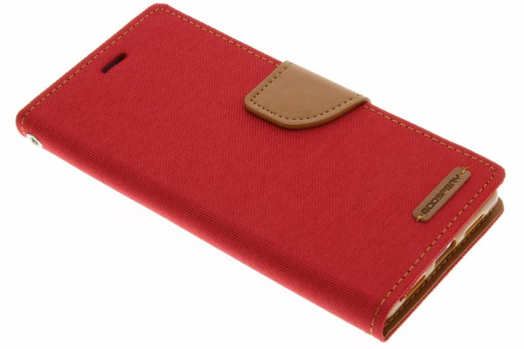 Mercury Goospery Canvas Diary Case voor de Huawei P9 Lite - Rood