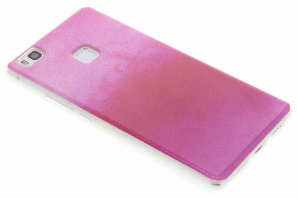 Fuchsia glitter TPU softcase voor de Huawei P9 Lite