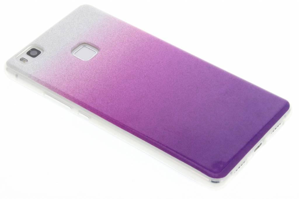 Paars glitter TPU softcase voor de Huawei P9 Lite